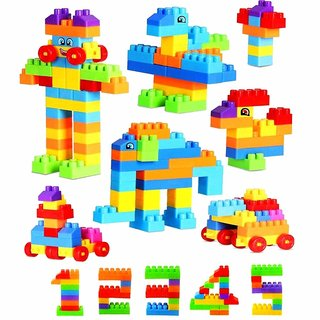 Chocozone Pack of 216 Blocks STEM Educational Kids Toys Building Block Toys for 2 Year Old Boys