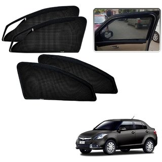 zipper Magnetic Sunshade for Maruti Suzuki Swift Dzire Type-2 (2012-2017) by guruji system