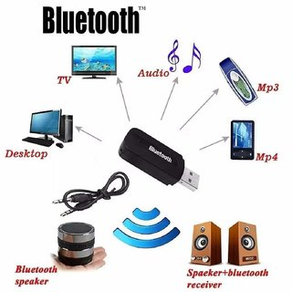 Pasaddo  USB Wireless Bluetooth Receiver,Dongle 4.0 USB Music Audio Receiver Adapter USB Hands-Free Dongle Kit for Speak
