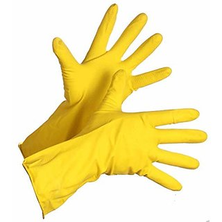 Kaltron Reusable Rubber Hand Gloves for Washing, Cleaning, Kitchen, Garden  Sanitation (Pack of 1)