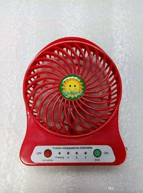AVMART Mini Portable Usb Rechargeable 3 Speed Fan (Red) (AMINIFAN02-1)