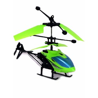 Exceed Induction Type 2-in-1 Flying Indoor Helicopter with Remote (Green)