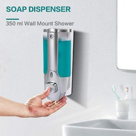 LOGGER - Clean Home Plastic Dispenser with Key 350 ml Gel, Lotion, Soap, Conditioner, Shampoo Dispenser