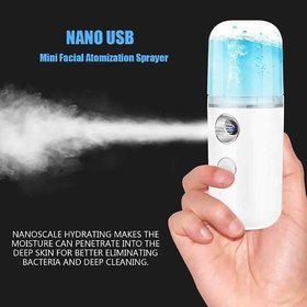 Mini Nano Facial Sprayer USB  Sanitizer Spray  Face Steamer Humidifier Hydrating Anti-aging Wrinkle Women Beauty Skin