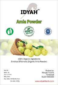 IDYAH Pure Amla Powder, Great for Healthy Skin and Hair