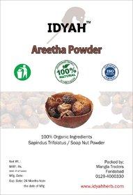 IDYAH Natural Aritha Powder for Hair (Reetha/Soapnut Powder),Hair Strengthening, Shine, Conditioning
