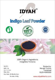 IDYAH Indigo powder, Helps in conditions your hair, shiny and smoothes the scalp, covers grey hair