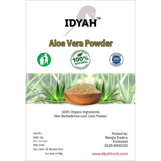 IDYAH Aloevera Powder, For Skin care Hair care and many types of Disease