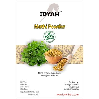 IDYAH Methi Powder, For Balance cholesterol, digestive problems, Reduce fat mass, Maintain liver and kidney health