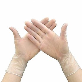 Vinyl Gloves Virus Protection Disposable Anti-Static  Large Size Set of 10 Pair