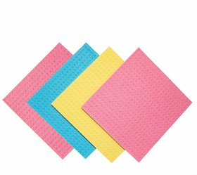 Kitchen Wipe, Pack of 8, 100 Biodegradable Cellulose Wiping Sponge (20 X 18 cm)