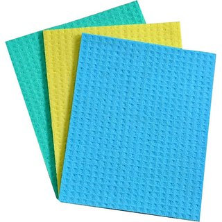 Kitchen Wipe, Pack of 16 pcs, 100 Biodegradable Cellulose Wiping Sponge (20 X 18 cm)