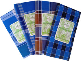 Men's  Cotton Lungi(Pack of 4 pcs)