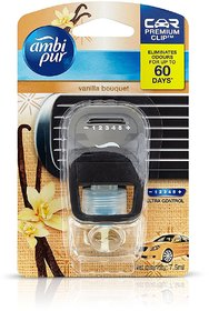 Ambi Pur-Premium Car Vanilla Bouquet Clip Air Freshener Refill-7.5 Ml