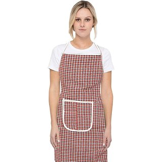 MPI Cotton Kitchen Apron with Front Pocket Assorted Color - Set of 1