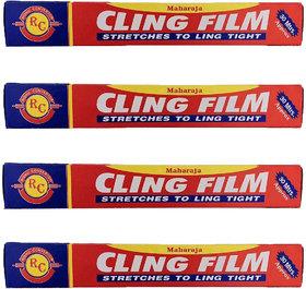 Rishu converter 120 Meter Cling Film ( 4 X 30 Mtr )/ Multipurpose Food Wrapping Film Shrinkwrap