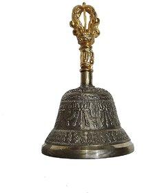 Tibetan Buddhist Brass Singing Bell Crafted Puja Meditation Large- 5 Inch