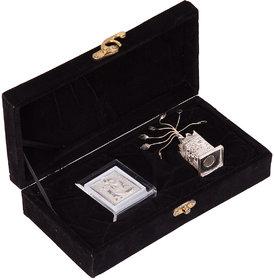 JEWEL FUEL 999 Pure Silver Radha Krishna Stand and German Silver Tulsi Plant Gift Set