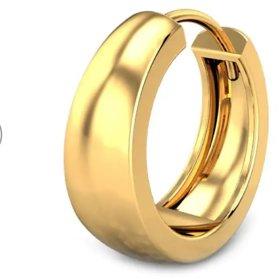 Men's gold earrings (1 pcs)