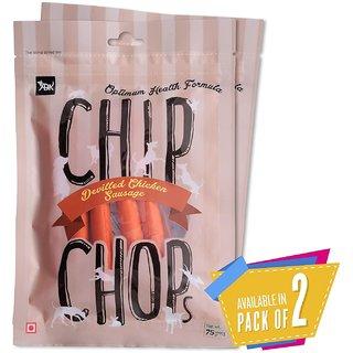 Chip Chops Dog Treat Devilled Chicken Sausage, 140g, Optimum Health Formula (Pack of 2)