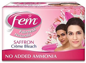 Fem Fairness Saffron Creme Bleach, 24g( Pack of 2 )