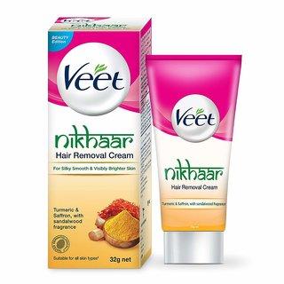Veet Nikhaar Hair Removal Cream, 32g( Pack of 2 )