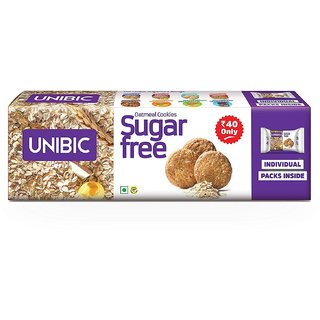 Unibic Suger Free Oatmeal Cookies 75G( Pack of 3 )