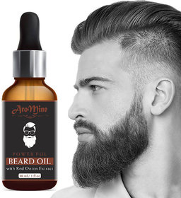 AroMine Beard Growth Oil With Red Onion Extract Hair Oil (30 ml)