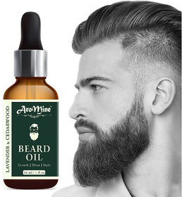 AroMine 100 Natural Beard Growth Oil- For Stimulating fast Beard Growth Hair Oil (30 ml)