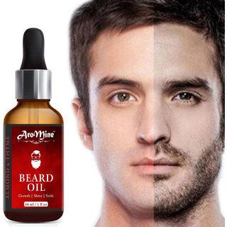AroMine 100  Natural Beard Growth oil - Almond and Thyme- (30 ml) Hair Oil (30 ml)