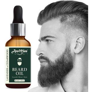 AroMine 100 Natural Beard Growth Oil- For Stimulating fast Beard Growth Hair Oil (30 ml)