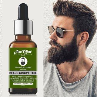 AroMine Beard Growth Oil  100 Natural  For Beard Growth-30ML Hair Oil (30 ml)