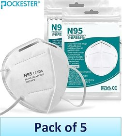 Pockester Outdoor Protection N95 MasK ( Pack of 5 )