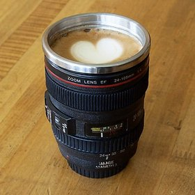 Shop Stoppers  Camera Lens Coffee Cup, Travel Mug - Camera Model Lens  Stainless 400Ml Thermos