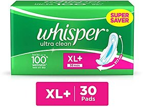 Whisper Ultra Clean (XL+) 30 Pads
