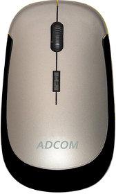Adcom 4D Slim Wireless Optical Mouse With Nano Receiver (Metallic Grey)