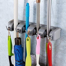 Shop Stoppers Wall Mount Mop and Broom Holder for Home Organizer  Cleansing Holder