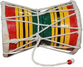 Best Handcraft Wooden Handmade Dumru for Kids,Damru Hand Percussion Handmade Indian Musical Instrument -4 Inches