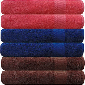 Akin MultiColor Cotton Hand Towels Set Of 6