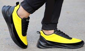 Woakers Men's Yellow Sneakers