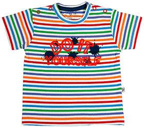 Buzzy Boy's Red Round Neck Cotton T-shirt