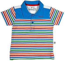Buzzy Boy's Red Polo Neck Cotton T-shirt