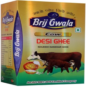 Brij Gwala Pure Desi Cow Ghee 500 ml Tetra Pack