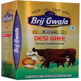 Brij Gwala Pure Desi Cow Ghee 500 ml Tetra Pack -6