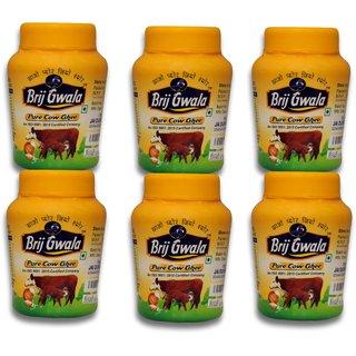 Brij Gwala Pure Desi Cow Ghee 500 ml pack of -6