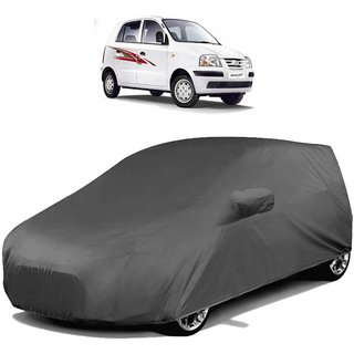love4ride Gromaa Gray  Water Resistant Car Body Cover For Hyundai Santro Xing