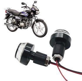 Bike Turn Signal LED Handle Bar Light for Hero Splendor Plus ( White  Blue )