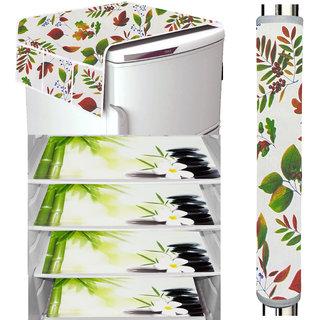 LooMantha Refrigerator Cover, Fridge Cover Combo, Fridge Mat