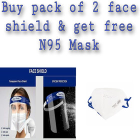 Face Shield Full Protection Cap Wide Visor Adjustable Pet-350 Microns Size