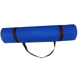 TPE Yoga Mats 24x72inch 6mm thickness Light Blue